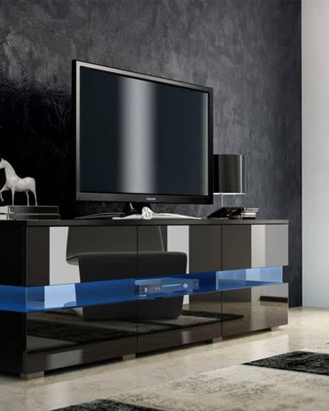 MEBLOCROSS Inter tv stolík čierna