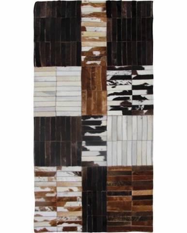 Typ 4 kožený koberec 171x240 cm vzor patchwork
