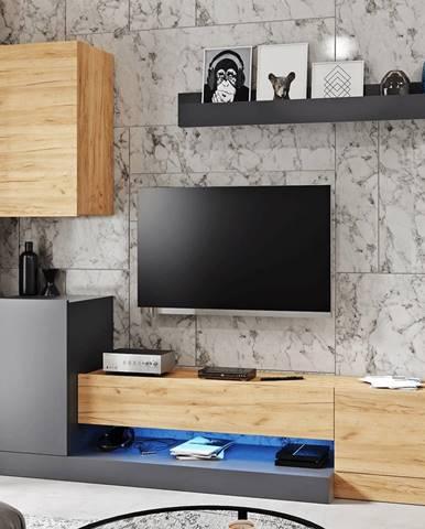 Dula OS obývacia stena sivý antracit