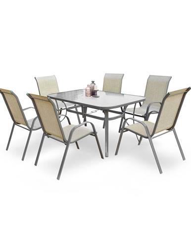 Mosler záhradný stôl tmavosivá