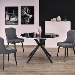 Avelar okrúhly sklenený jedálenský stôl čierna