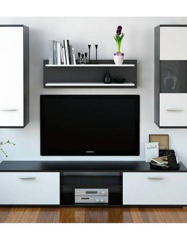 Waw New obývacia stena čierna