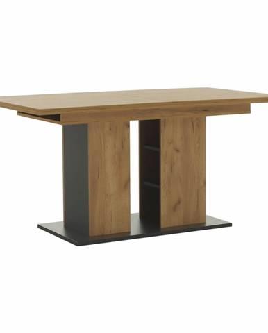 Fidel S rozkladací jedálenský stôl dub craft zlatý