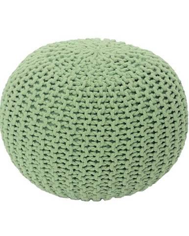 Gobi Typ 1 pletená taburetka svetlozelená