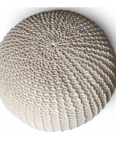 Taman Typ 2 pletená taburetka smotanová