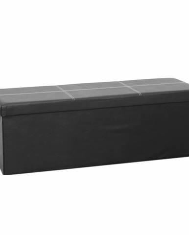 Zamira skladacia taburetka s úložným priestorom čierna
