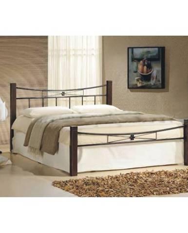 Paula 140 manželská posteľ s roštom orech