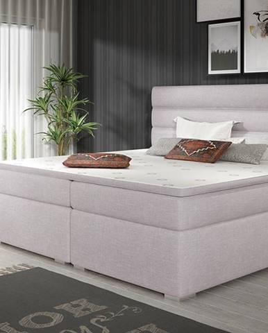 Spezia 180 čalúnená manželská posteľ s úložným priestorom svetlosivá (Sawana 84)