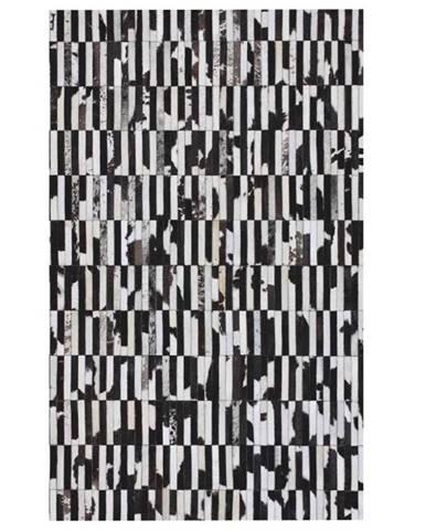 Typ 6 kožený koberec 201x300 cm vzor patchwork