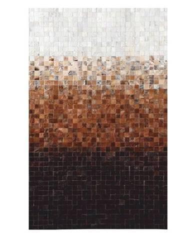 Typ 7 kožený koberec 140x200 cm vzor patchwork