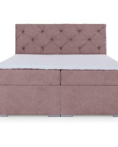 Beneto 180 čalúnená manželská posteľ s úložným priestorom ružová (Soro 61)