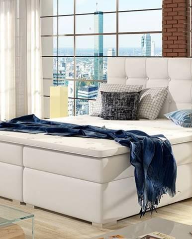 Isola 140 čalúnená manželská posteľ biela