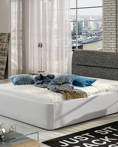 Portima 180 čalúnená manželská posteľ biela (Soft 17)