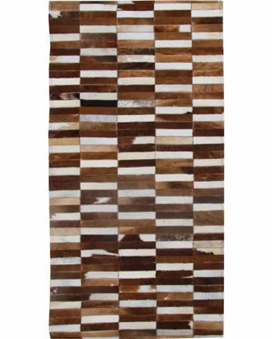 Typ 5 kožený koberec 171x240 cm vzor patchwork