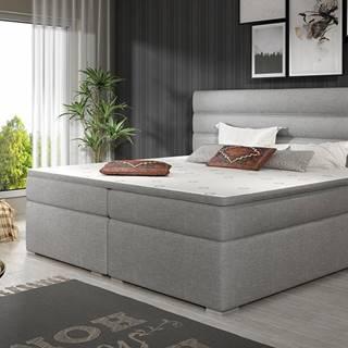 Spezia 160 čalúnená manželská posteľ s úložným priestorom svetlosivá (Sawana 21)