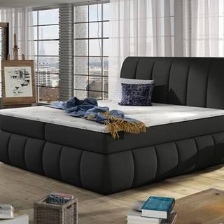 Vareso 180 čalúnená manželská posteľ s úložným priestorom čierna (Sawana 14)