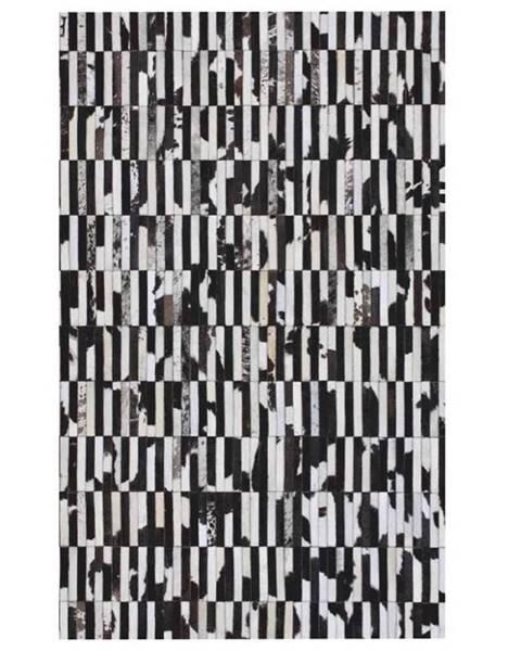 Kondela Typ 6 kožený koberec 171x240 cm vzor patchwork