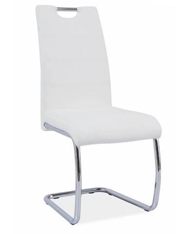 Abira jedálenská stolička biela