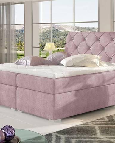 Beneto 180 čalúnená manželská posteľ s úložným priestorom ružová (Omega 91)