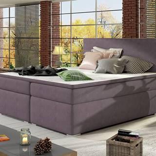 Diana 140 čalúnená manželská posteľ s úložným priestorom fialová