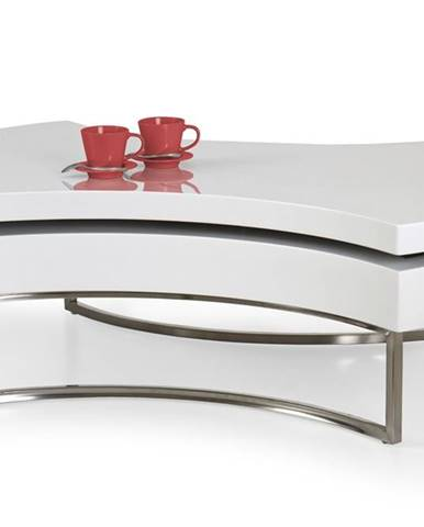 Aurea konferenčný stolík biely lesk