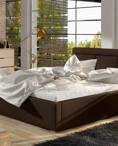 Branco 140 čalúnená manželská posteľ s roštom tmavohnedá (Soft 66)