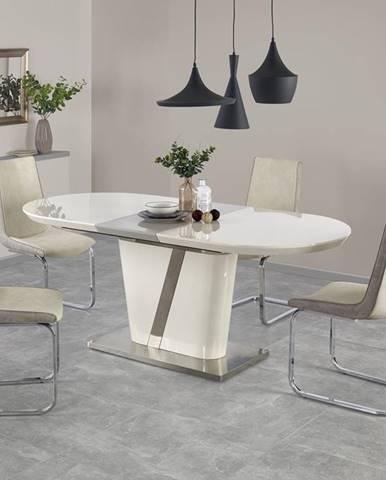 Iberis rozkladací jedálenský stôl krémový lesk