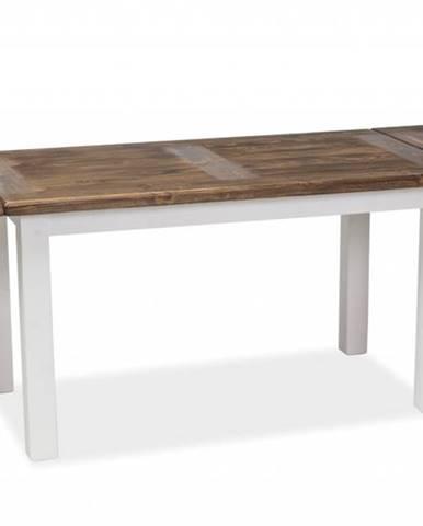 Poprad II rozkladací jedálenský stôl hnedý vosk