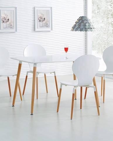 Socrates 120 jedálenský stôl biely lesk