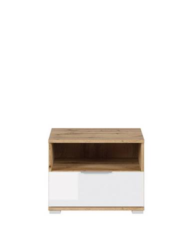 Zele KOM1S nočný stolík dub wotan
