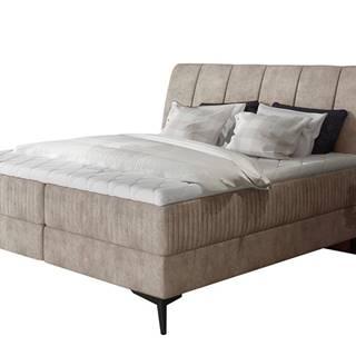 Altama 180 čalúnená manželská posteľ s úložným priestorom béžová