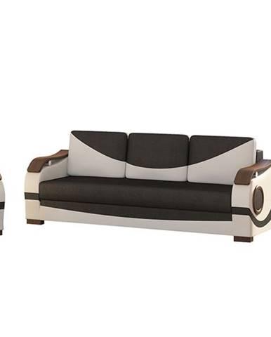 Pietro 3+1 rozkladacia sedacia súprava s úložným priestorom čierna
