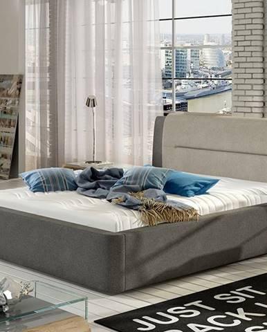 Portima 140 čalúnená manželská posteľ tmavosivá