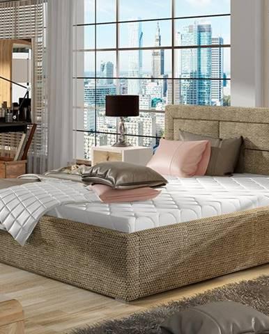 Rovigo UP 140 čalúnená manželská posteľ s roštom cappuccino