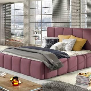 Evora 180 čalúnená manželská posteľ ružová