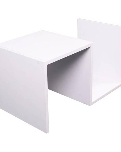 Kondela Valmar príručný stolík biela