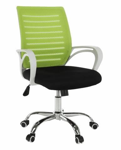 Ozela kancelárske kreslo s podrúčkami zelená