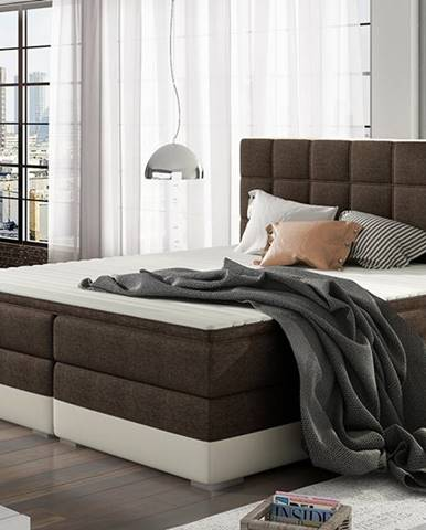 Dalino 140 čalúnená manželská posteľ s úložným priestorom tmavohnedá (Sawana 26)