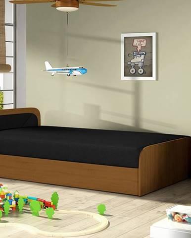 Pinerolo 80 L jednolôžková posteľ (váľanda) s úložným priestorom čierna