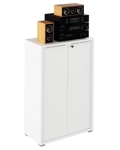 Rioma Typ 09 dvojdverová kancelárska skrinka so zámkom biela