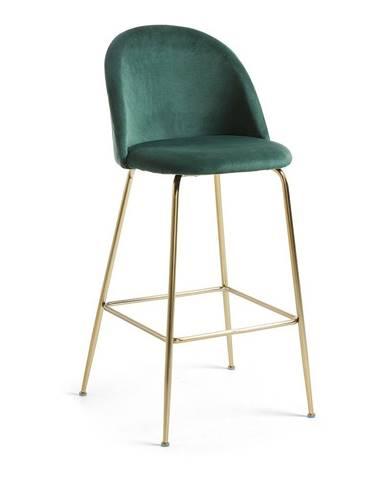 Zelená barová stolička La Forma Mystere