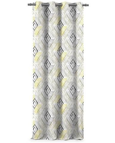 AmeliaHome Záves Blackout Geometric sivá, 140 x 245 cm