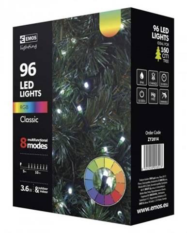 Vianočné osvetlenie Emos ZY2014, studená biela, voľba farby, 10m