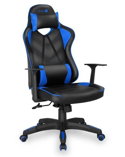 Connect IT Herná stolička Connect IT LeMans Pro čierna/modrá