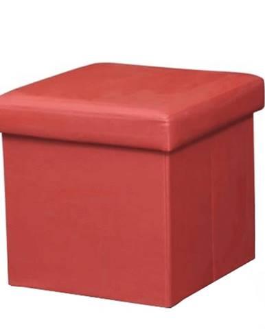 Skladací taburet ekokoža červená TELA NEW