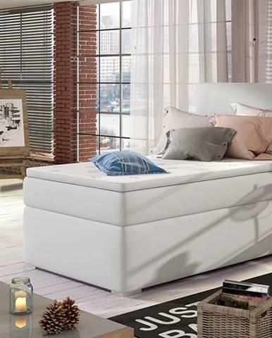 Rodrigo 90 L čalúnená jednolôžková posteľ s úložným priestorom biela