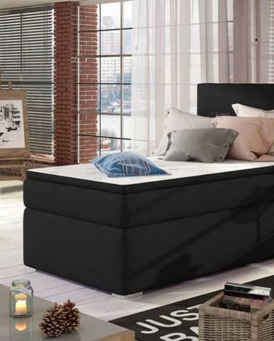 Rodrigo 90 L čalúnená jednolôžková posteľ s úložným priestorom čierna (Sawana 14)