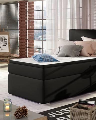 Rodrigo 90 L čalúnená jednolôžková posteľ s úložným priestorom čierna (Soft 11)