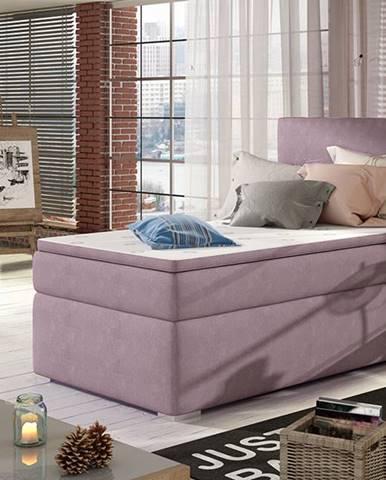 Rodrigo 90 L čalúnená jednolôžková posteľ s úložným priestorom fialová
