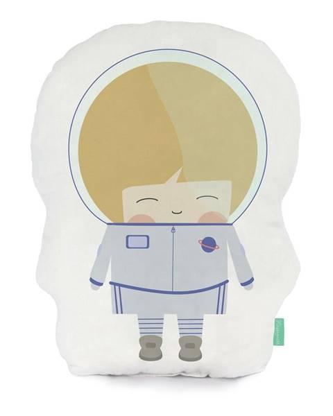 Happynois Vankúšik z čistej bavlny Happynois Astronaut, 40×30 cm
